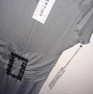 Vertigo Paris grey mini dress L NWT